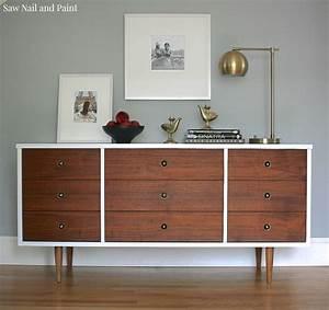 Bassett, Mid, Century, Dresser, Makeover