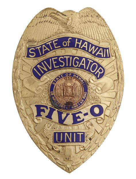 Lot Detail - Hawaii Five-0 Badge from the Estate of Jack Lord