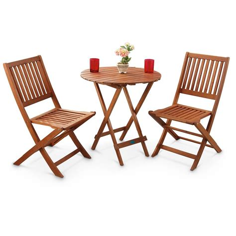 3  Pc Outdoor Folding Table And Chairs Set  283209