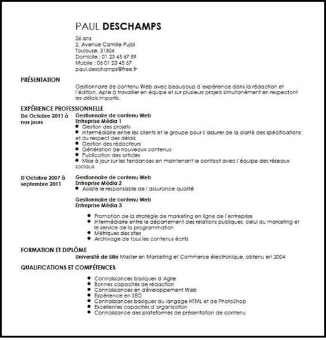 Redaction Cv by 12 R 233 Daction Cv Liberalarts For Wardemory
