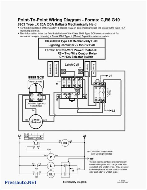 square  lighting contactor class  wiring diagram