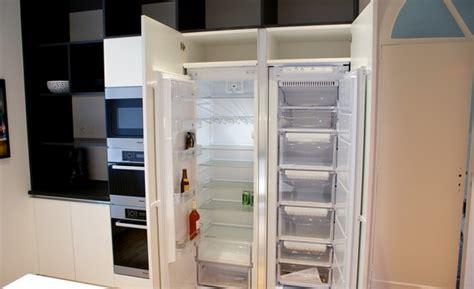 frigo cuisine encastrable frigo americain dans cuisine equipee bentley