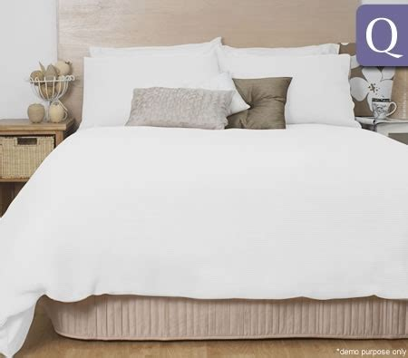 Ardor Waffle Quilt Cover Set  Queen Bed Size White