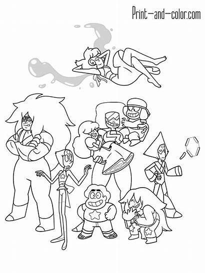 Steven Universe Coloring Pages Printable Characters Cartoon