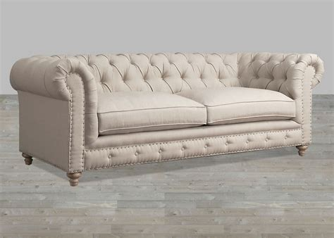 Sleeper Sofa Slip Cover by Classic Grande Chesterfield Style Reproduction Custom