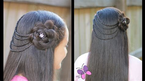 hair style braided flower braided hairstyle hairstyles