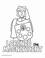 Coloring Lorenzo Leon Ponce History Medici Magnificent Template sketch template