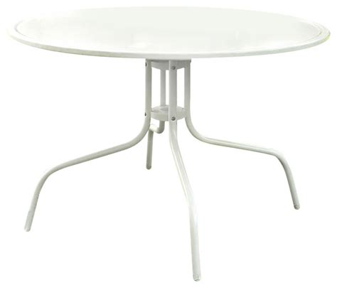 white round outdoor dining table round patio dining table in white outdoor uv resistant