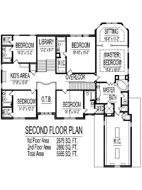 5 Bedroom House Plans 2 Story by 5000 Sq Ft House Floor Plans 5 Bedroom 2 Story Designs