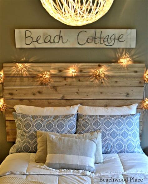 diy themed bedroom beach theme guest bedroom with diy wood headboard wall art and lots of annie sloan chalk paint