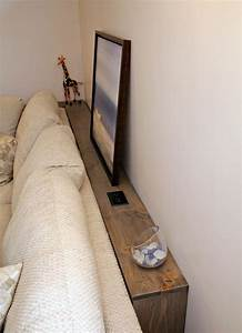 Turtles and tails diy sofa table for Sectional sofa built in tables