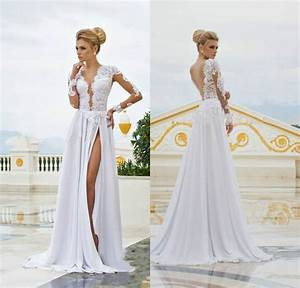 simple elegant backless wedding dresses 2015 lace long With simple sexy wedding dresses