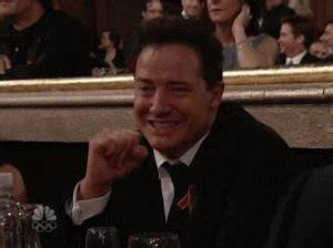 Brendan Fraser ... Laughing Gif