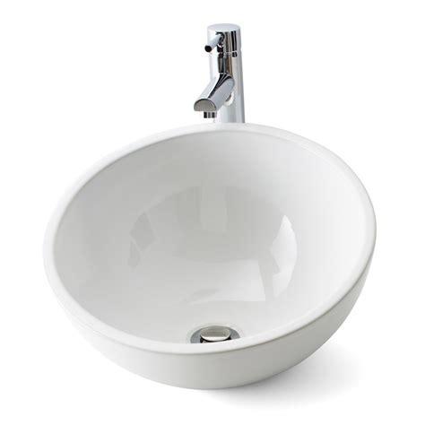 vasque 224 poser c 233 ramique diam 40 cm blanc lounge leroy merlin