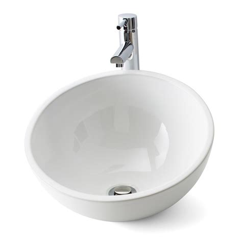 vasque cuisine à poser vasque à poser céramique diam 40 cm blanc lounge leroy