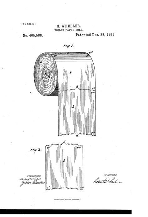 le brevet du papier toilette