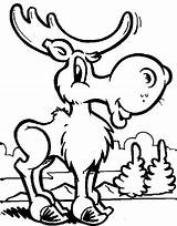 Moose Coloring Pages Funny Cute Christmas Drawing Print Animal Face Canada Printable Sheets Draw Clipartmag Deer Getcolorings Getdrawings Found Colorings sketch template