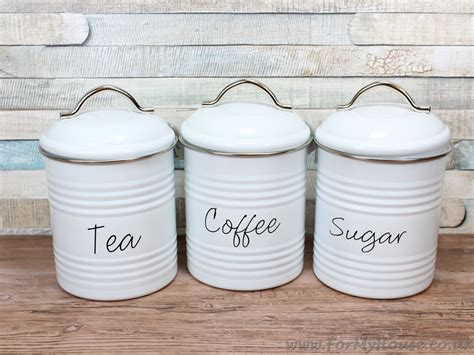 white kitchen canisters white metal tea coffee sugar canisters storage kitchen