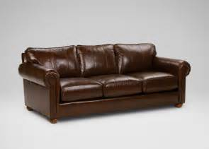 richmond leather sofa old english chocolate ethan allen