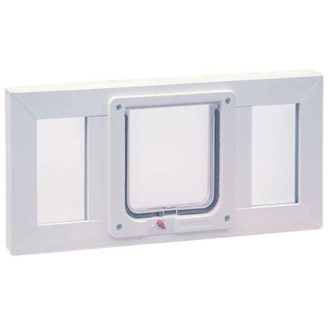 window cat door ideal pet products 6 25 in x 6 25 in small cat flap pet