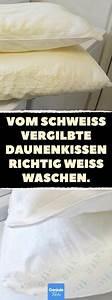 Küchenschränke Reinigen Hausmittel : vom schwei vergilbte daunenkissen richtig wei waschen daunenkissen waschen haushalt ~ A.2002-acura-tl-radio.info Haus und Dekorationen