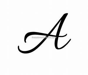 Cursive Letters Archives - Free Stencil Letters