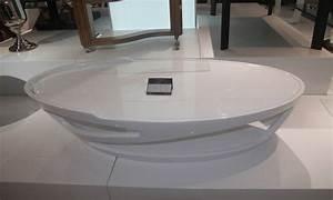 Table Basse Ovale Blanche : table basse blanche ovale design en image ~ Teatrodelosmanantiales.com Idées de Décoration