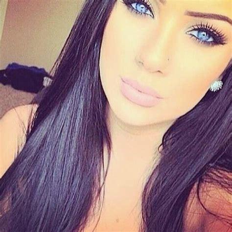 Cool Blue Toned Black Hair With Blue Eyes Health Hair