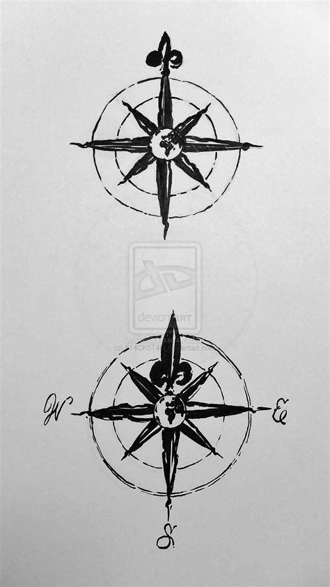 simple compass rose tattoo - Google Search | Other tattoos | Compass tattoo, Compass rose tattoo