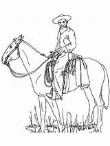 Cowboy Coloring Boys Printable Adults Cowboys Horse Hat Colors Template Recommended sketch template