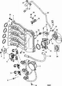 Mercury Outboard Parts Drawing 50 55 60 Hp 2 Stroke