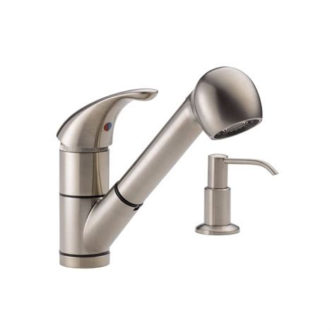 pull out kitchen faucets peerless pull out kitchen faucet brushed nickel