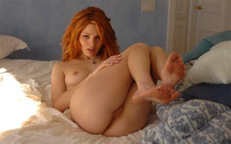Wallpaper Jamie Langford Nude Legs Pussy Redhead Tits