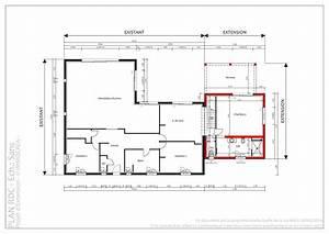plan agrandissement maison plan architecte agrandissement With plan agrandissement maison individuelle