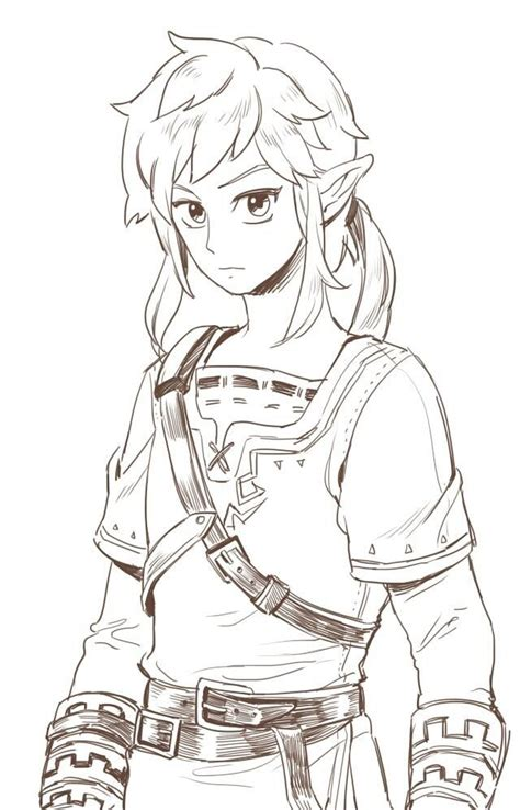 legend  zelda coloring pages images  pinterest