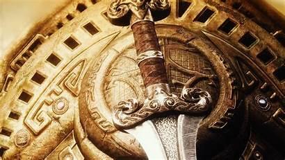 Sword Shield Skyrim Wallpapers Elder Scrolls Swords