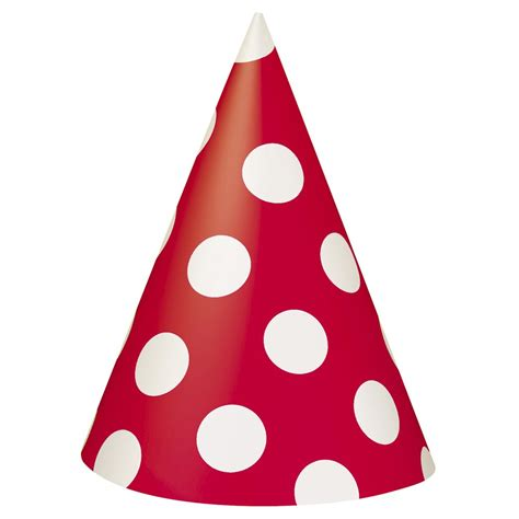birthday hat 8 ruby polka dot party hats from all you need to