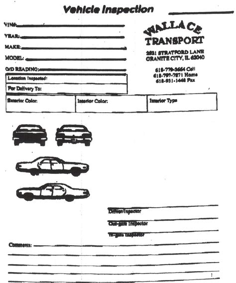 inspection sheet i need a good inspection sheet pic of car dodge diesel
