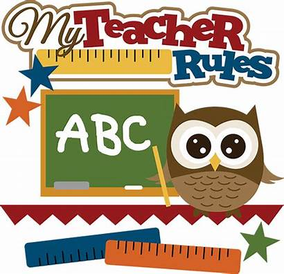 Clip Clipart Svg Teacher Owl Rules Teachers