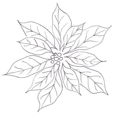 poinsettia clipart outline pencil   color
