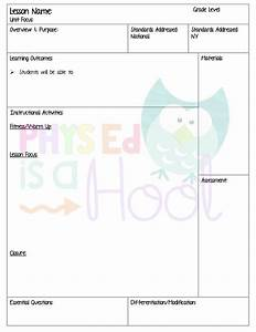 25 best ideas about lesson plan templates on pinterest With elementary pe lesson plan template