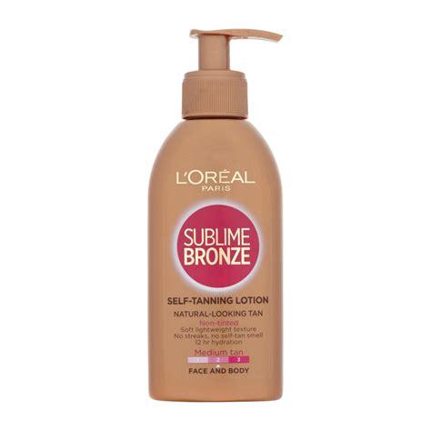 face tanning l l 39 oréal paris sublime bronze self tanning lotion medium