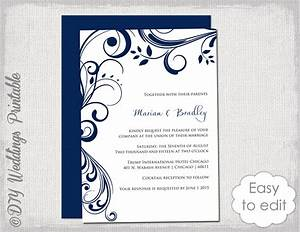 navy wedding invitation template scroll With wedding invitation designs color blue