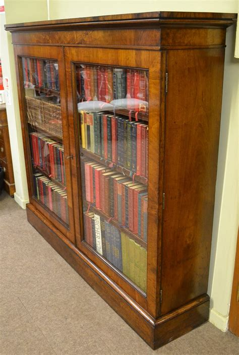 walnut bookcase  antiques atlas