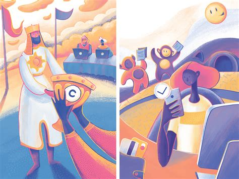 Moonworkers: Getting Paid Illustration by tubik on Dribbble