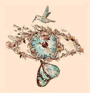illustration design time eye butterfly bird plants illustration design muse