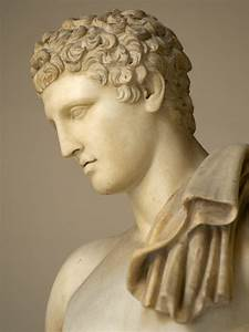 Statue of Hermes Belvedere. Detail. Rome, Vatican Museums ...