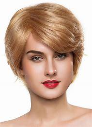 Short Blonde Wavy Human Hair Wigs