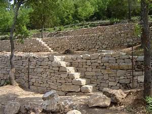 Verdon : restauration de terrasses en pierre sèche • De Pierre et de Bois