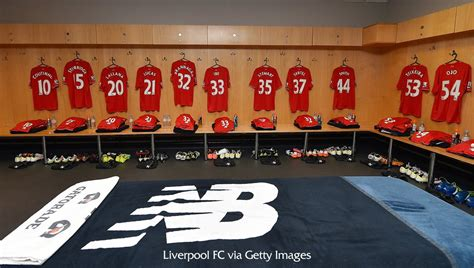 """The club competes in the premier league, the top tier of english football. Liverpool FC on Twitter: """"A look inside the away dressing ..."""